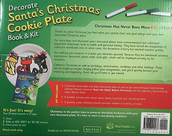 sc 1 st  Amazon.com & Amazon.com: Decorate Santa\u0027s Christmas Cookie Plate Book \u0026 Kit