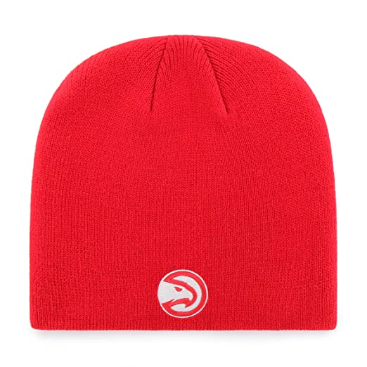 lowest price 7d089 200f2 Amazon.com   OTS NBA Atlanta Hawks Beanie Knit Cap, Red, One Size   Clothing