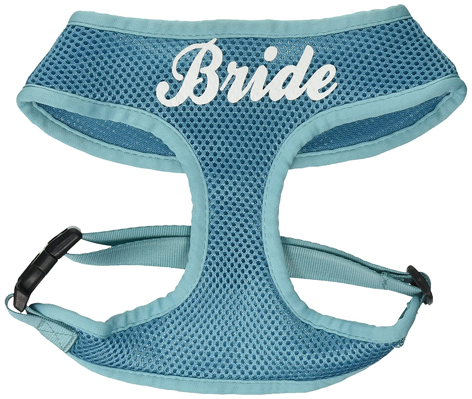 (Large, Aqua) Mirage Pet Products 70-34 LGAQ Bride Screen Print Soft Mesh Harness Aqua Large