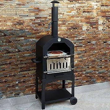 Kukoo Outdoor Ofen Gartenofen Pizzaofen Gartengrill Pizzastein ...