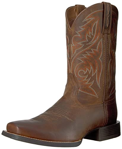 726350fac0c ARIAT Men s Sport Herdsman Western Boot Powder Brown Size 7 D Medium Us