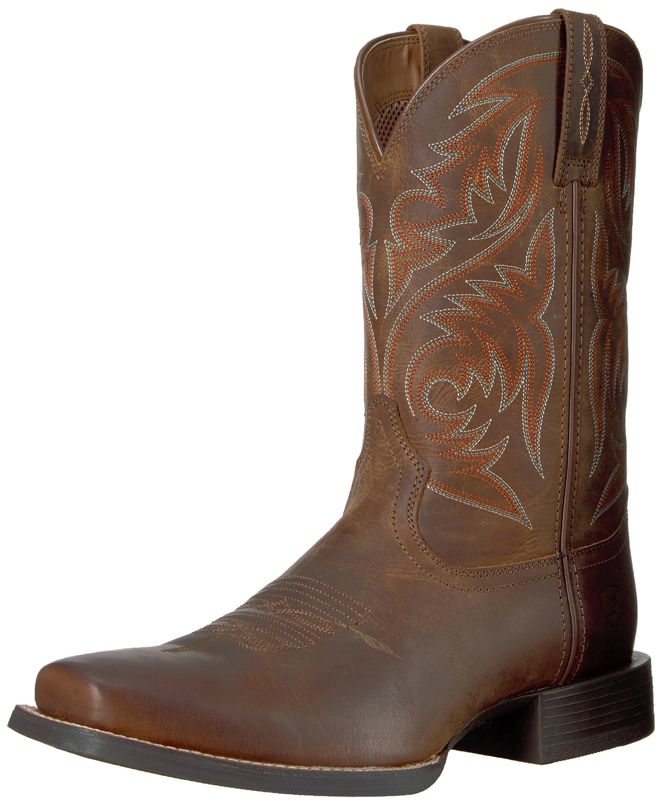 Ariat Men's Sport Herdsman Work Boot, Powder Brown, 8.5 D US