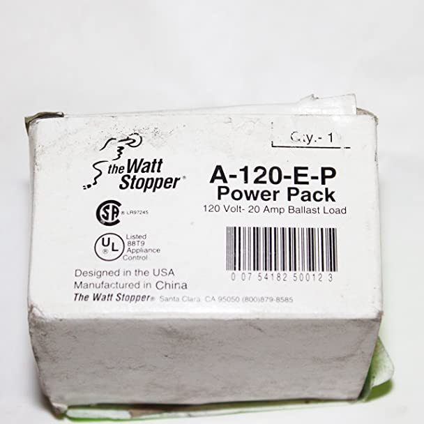 91Gy7gAkI8L._SX608_ amazon com wattstopper a 120 e p 120vac power pack master 20a watt stopper multi power pack wiring diagram at readyjetset.co