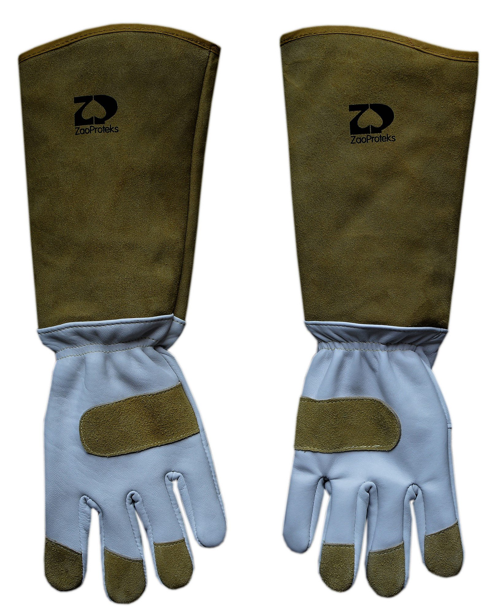 ZaoProteks ZP1906 Extended Long Cuff Genuine Cowhide Leather Puncture Resistant Garden Gloves (Yellow Long Cuff)