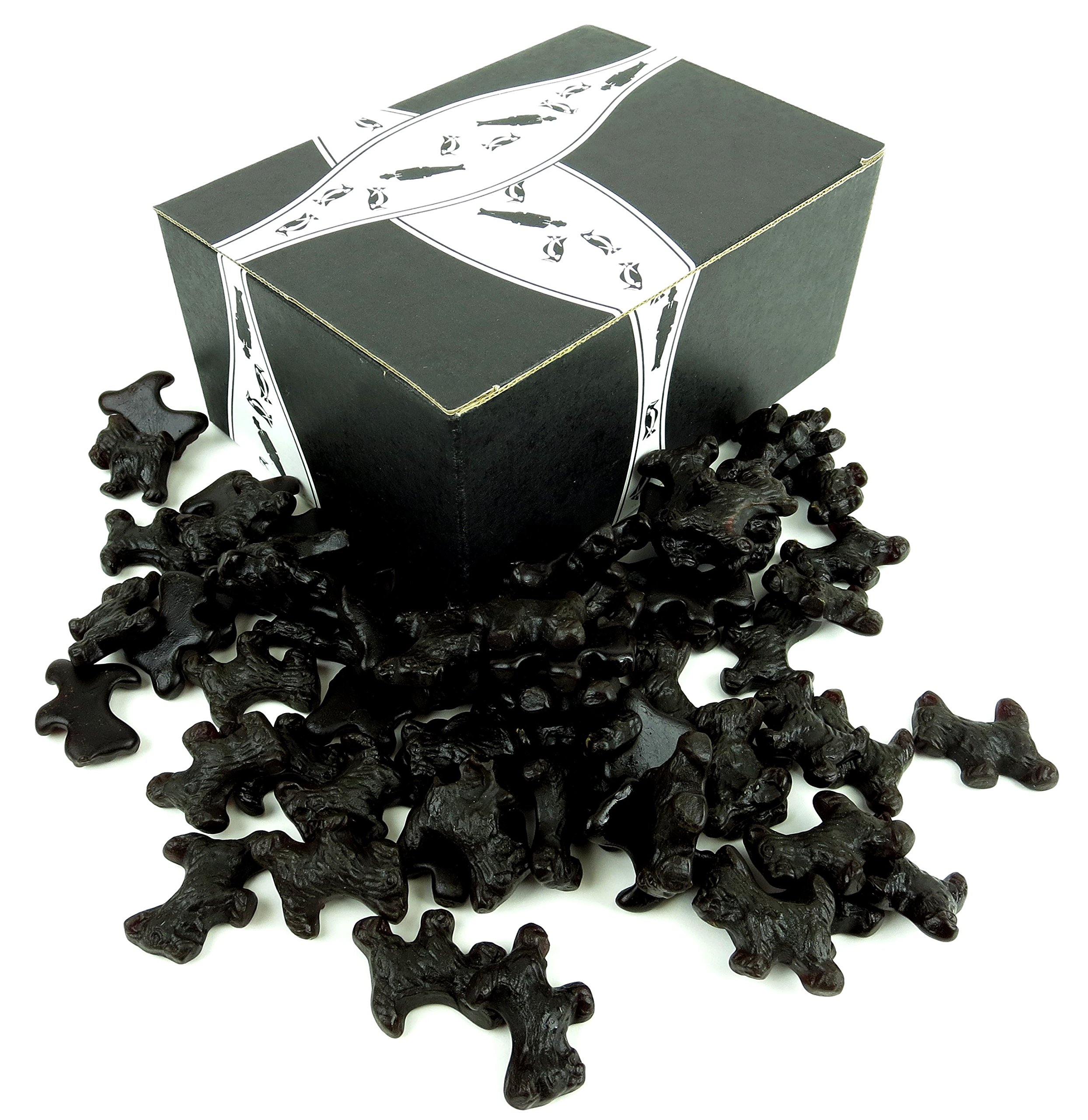 Gimbal's All Natural Black Licorice Scottie Dogs, 1 lb Bag in a BlackTie Box by Black Tie Mercantile (Image #1)