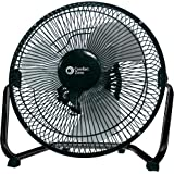 Comfort Zone CZHV9B 9-inch High Velocity 3-Speed Floor Fan with 180-Degree Tilt