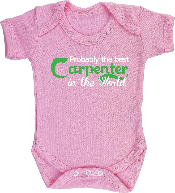 HippoWarehouse Probably The WorldS Best Carpenter Chaleco para beb/és Pijama de Manga Corta para ni/ños Unisex