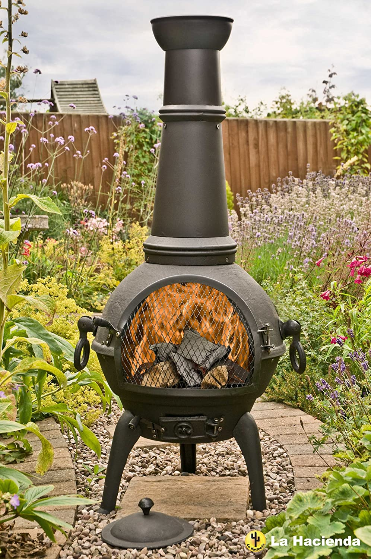 Black Lisbon 125cm Cast Iron Chiminea Chimenea Patio Heater: Amazon.co.uk:  Garden U0026 Outdoors