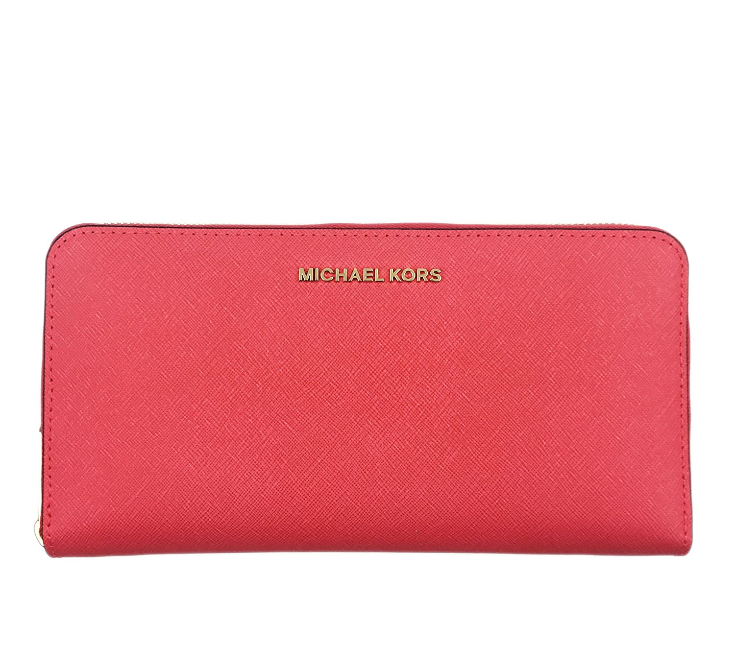 8fe45d4c71eb MICHAEL MICHAEL KORS Jet Set Travel Saffiano Leather Continental Wallet  -Extra Large (Coral Reef): Amazon.ca: Clothing & Accessories