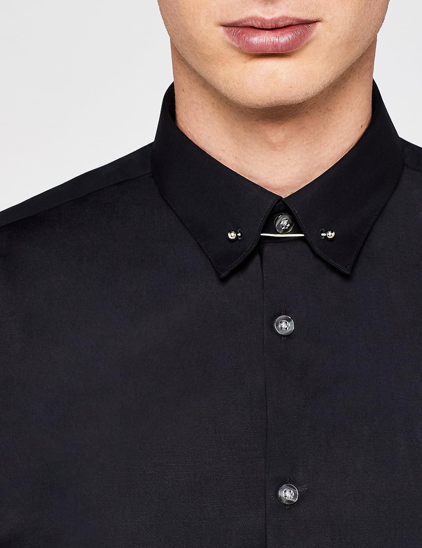 T-Shirts Camisa Entallada con Alfiler para Hombre find
