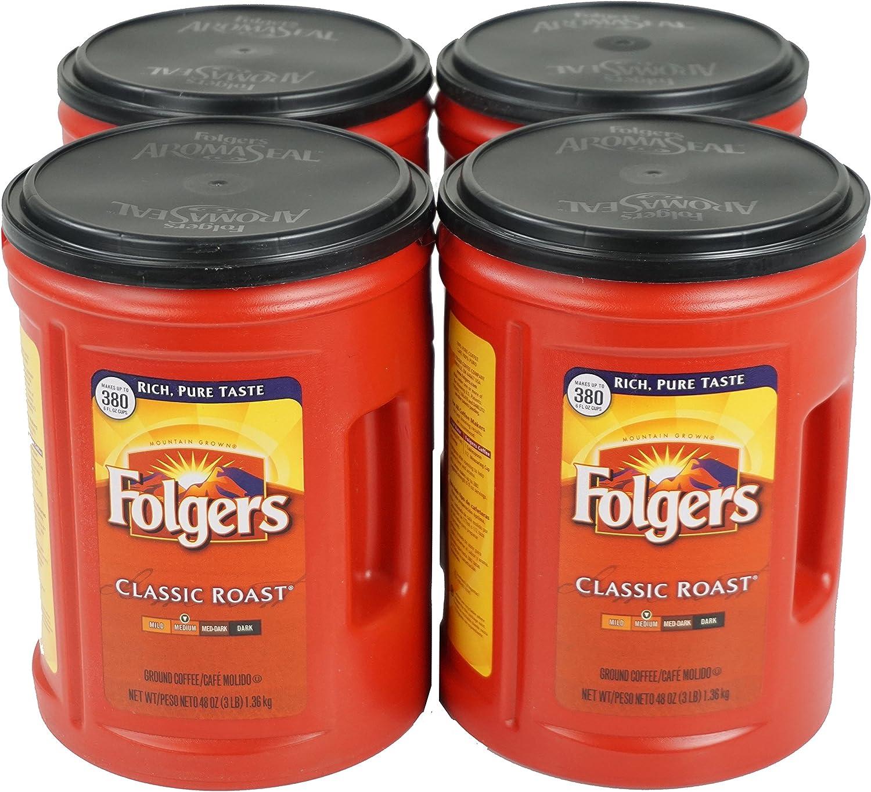 Folgers, Classic Medium Roast Coffee, 48 oz