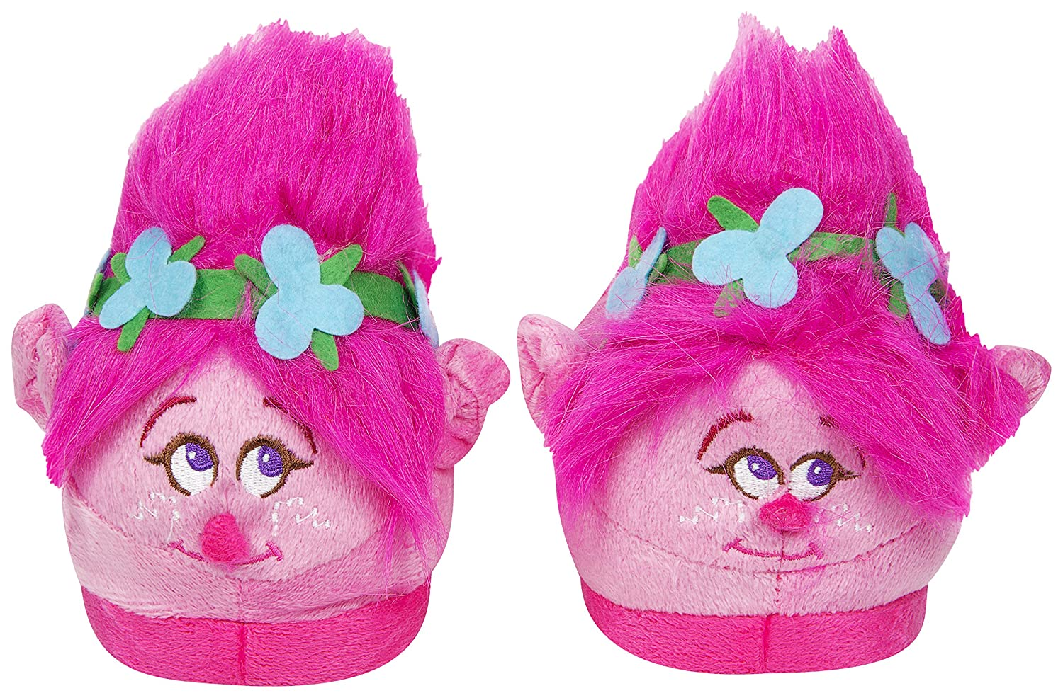 e1f5305f7f9 Trolls Plush Poppy 3D Slippers with Fur Trolls Hair - Perfect Christmas  Present (UK 5.5-7)  Amazon.co.uk  Toys   Games