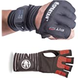 Fit Four Spartan OCR Slit Grip Gloves by Offical Glove of Spartan Race | Obstacle Course Racing & Mud Run Hand Protection | Wrist Support with Slit for Fitness Watch
