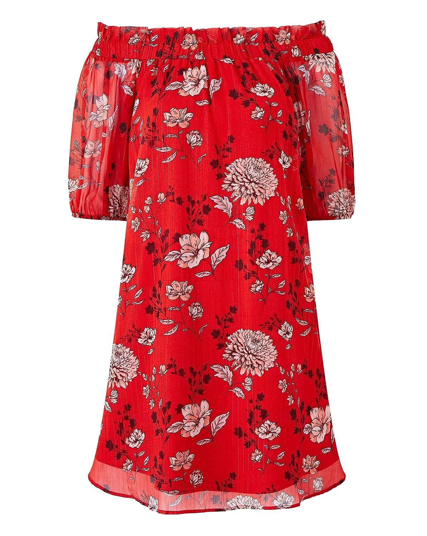 Simply Be Womens Metallic Stripe Bardot Dress