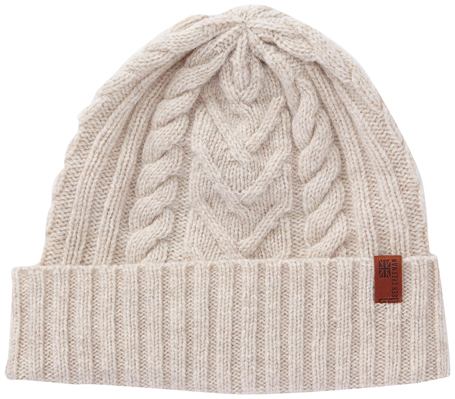 Ben Sherman Cable Beanie Made In Scotland Pajarita, Cream, Talla ...