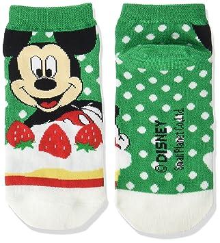 calcetines de Disney Mickey Mouse calcetines verde de la torta blanca 22‡p ~ 24cm