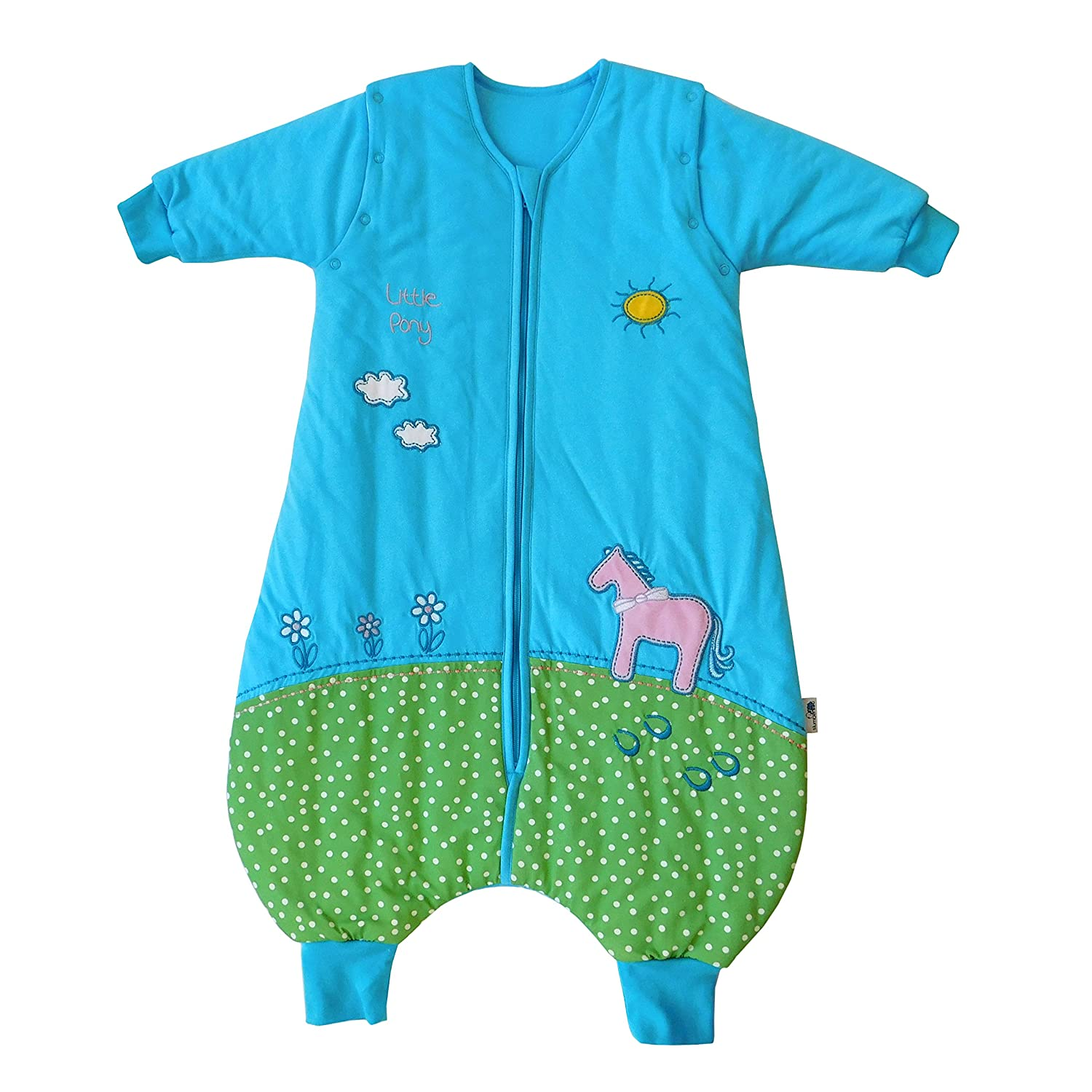 Slumbersac Sleeping Bag with Feet and Removable Long Sleeves, 2.5 Tog - Pony - 24-36 Months/Size: 100 cm