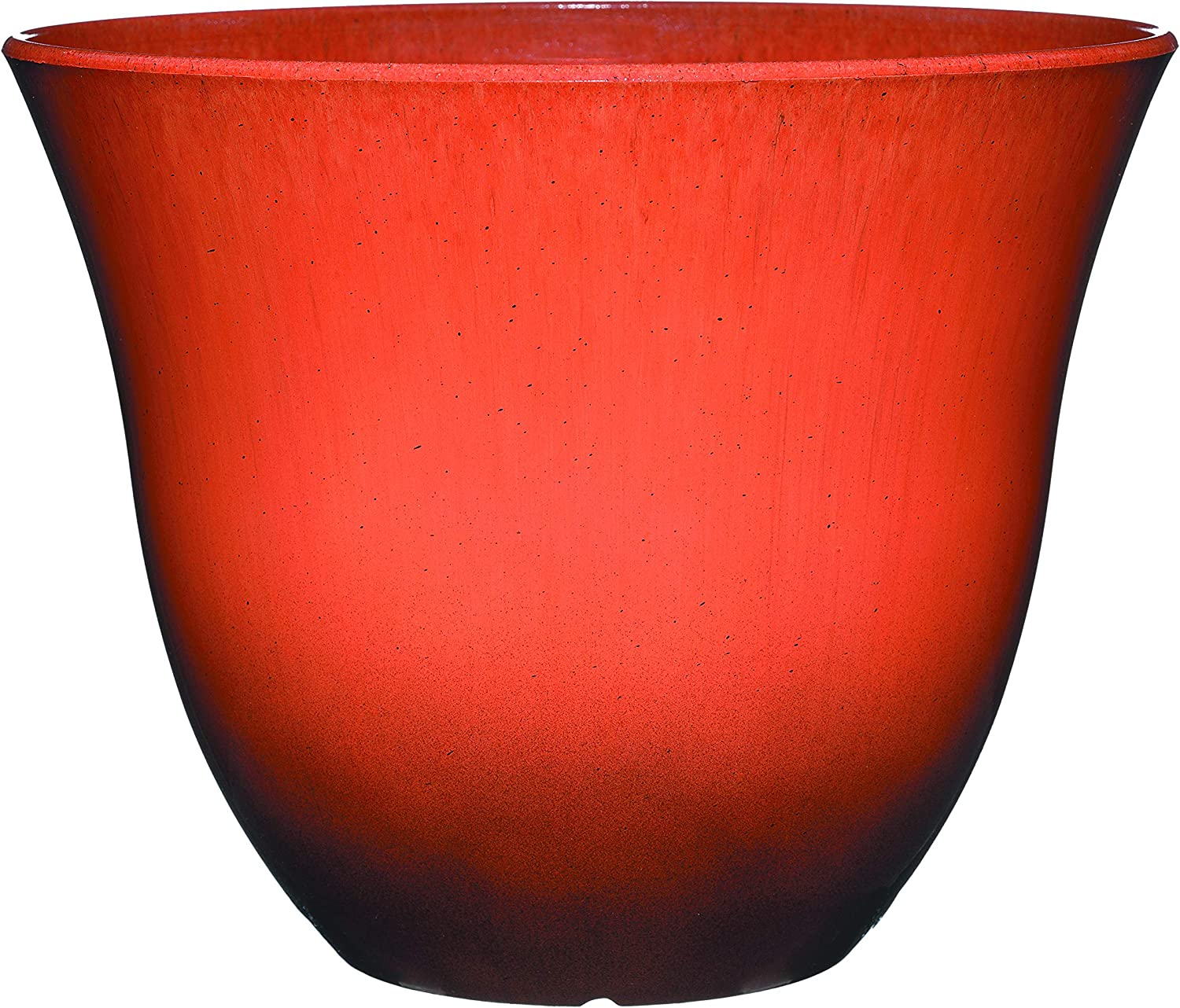 Classic Home and Garden 553-138R Honeysuckle Patio Pot Planter, 15 Inch, Ember