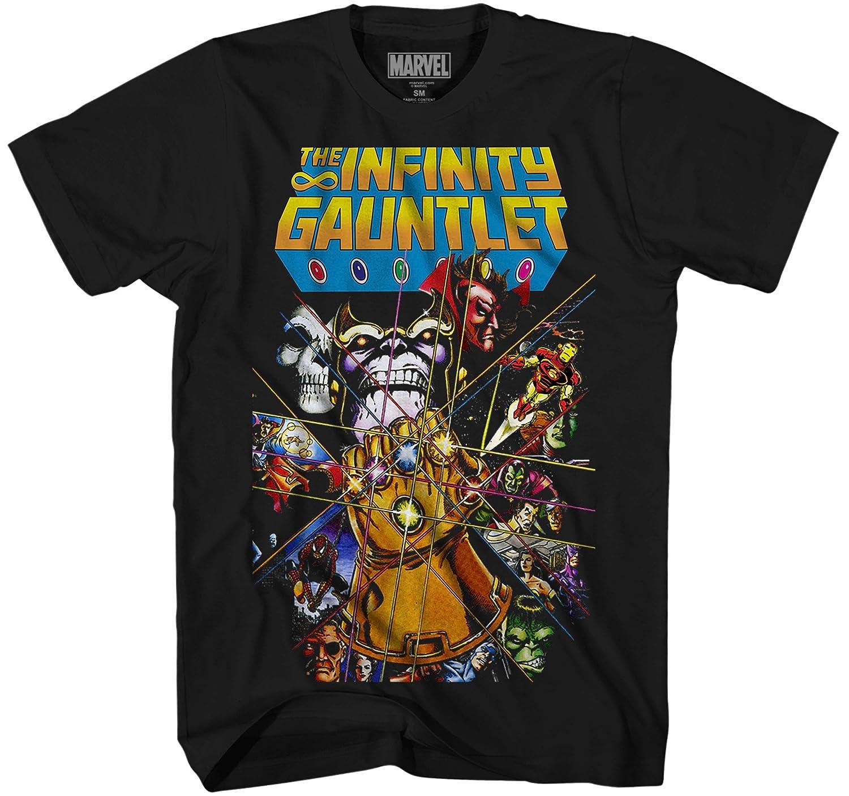 21f7cf1e Top5: Marvel Thanos Avengers Infinity War Gauntlet Hulk Spider-Man Iron Man  Strange Adult Men\'s Graphic Tee T-Shirt Apparel