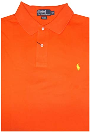 4bae61a5 Polo Ralph Lauren Mens Big & Tall Classic Fit Mesh Short Sleeve Shirt  Orange (1XB