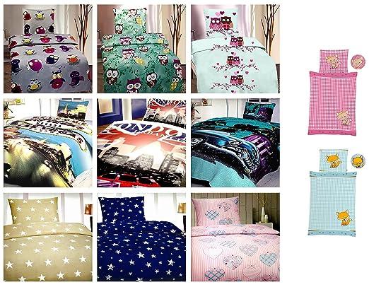 Kinder Bettwäsche 135x200 Cm Microfaser Oder Baumwolle Viele Designs