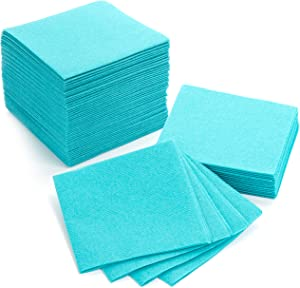 "American Homestead Cocktail Napkins - Small 4"" x 4"" Linen-Like Disposable Beverage/Bar Napkins - Bulk Square Napkins Eco-Friendly & Compostable - Everyday Use, Party or Wedding (100 Count, Turquoise)"
