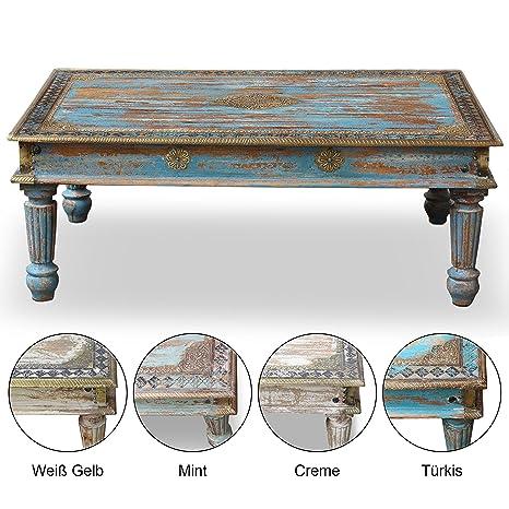 Tavolino Da Salotto Stile Country.Tavolino Da Salotto In Legno Duro Di Mango E Ottone India