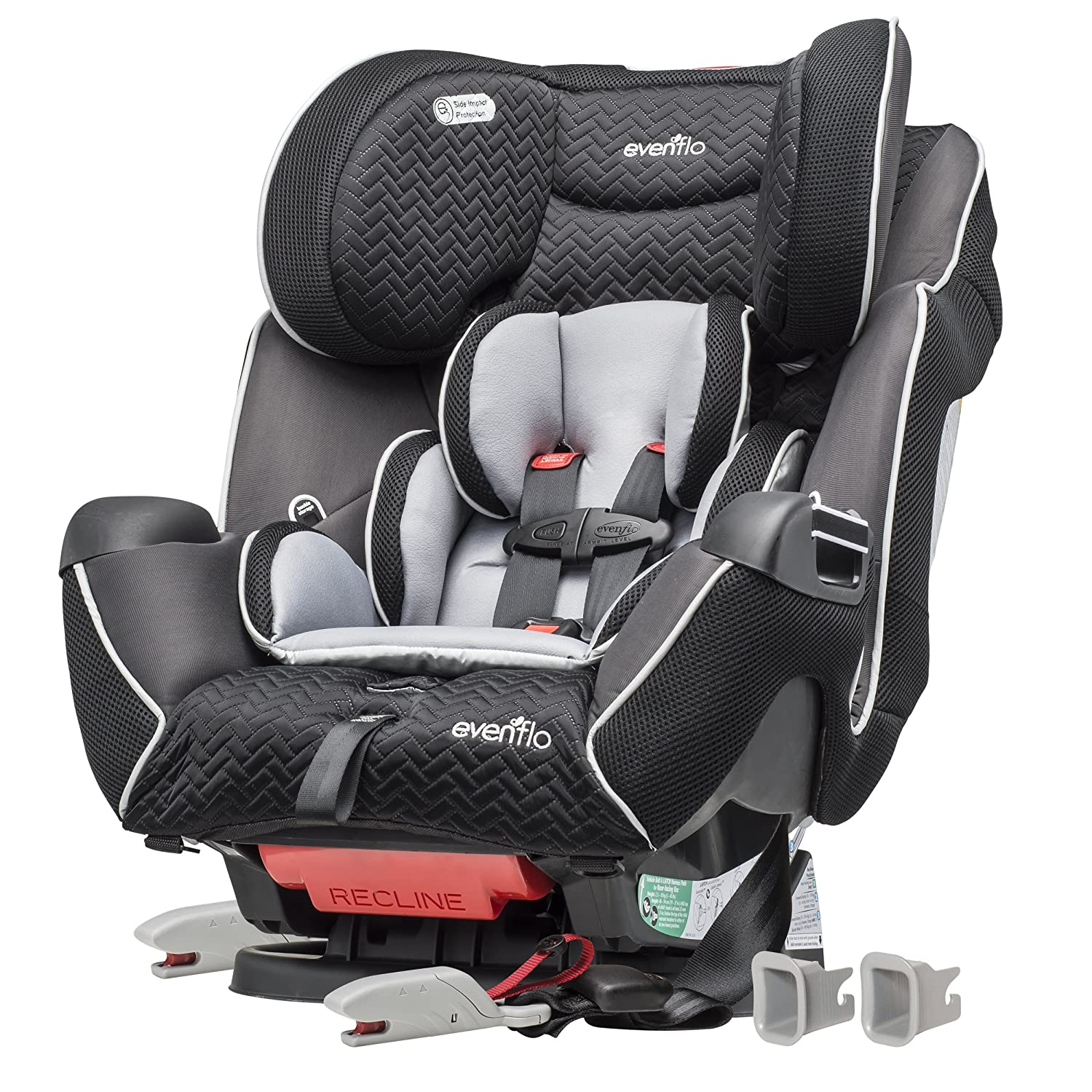Evenflo Symphony LX Convertible Car Seat, Black Jordan