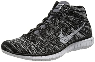 593240f7abd3 NIKE Free Flyknit Chukka Black Dark Grey (639700-001) mens Shoes