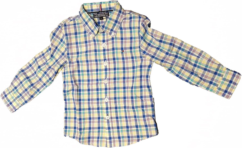 Tommy Hilfiger Camisa Cuadros - Niños: Amazon.es: Ropa y ...