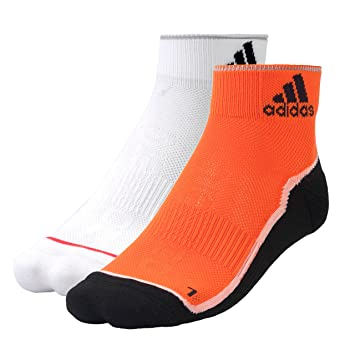 Adidas Performance Zapatillas Calcetines, Blanco, Naranja y Negro: Amazon.es: Deportes y aire libre