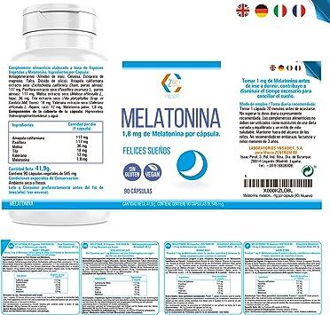 Melatonina – Valeriana – Tila – Pasiflora - Para conciliar el sueño | Conciliación Rápida del Sueño Con Efecto Duradero | Más Energía durante el Día| ...