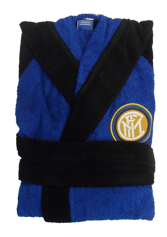 Inter 9634 020 2120 Accappatoio, 100% Cotone, Azzurro, 25x20x5 cm Hermet