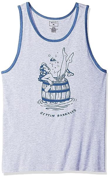 fcf86a15aaccf Amazon.com  Quiksilver Men s Getting BARRELED Tank TOP TEE Shirt ...