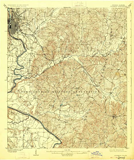 Map Of Columbus Georgia.Amazon Com Yellowmaps Columbus Ga Topo Map 1 62500 Scale 15 X 15