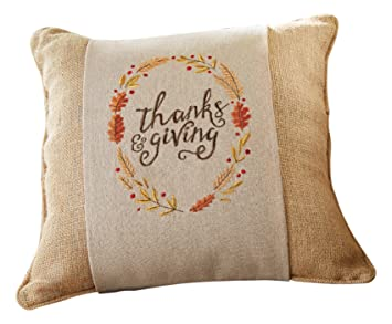 mud pie fall harvest decor thanks giving pillow wrap - Harvest Decor