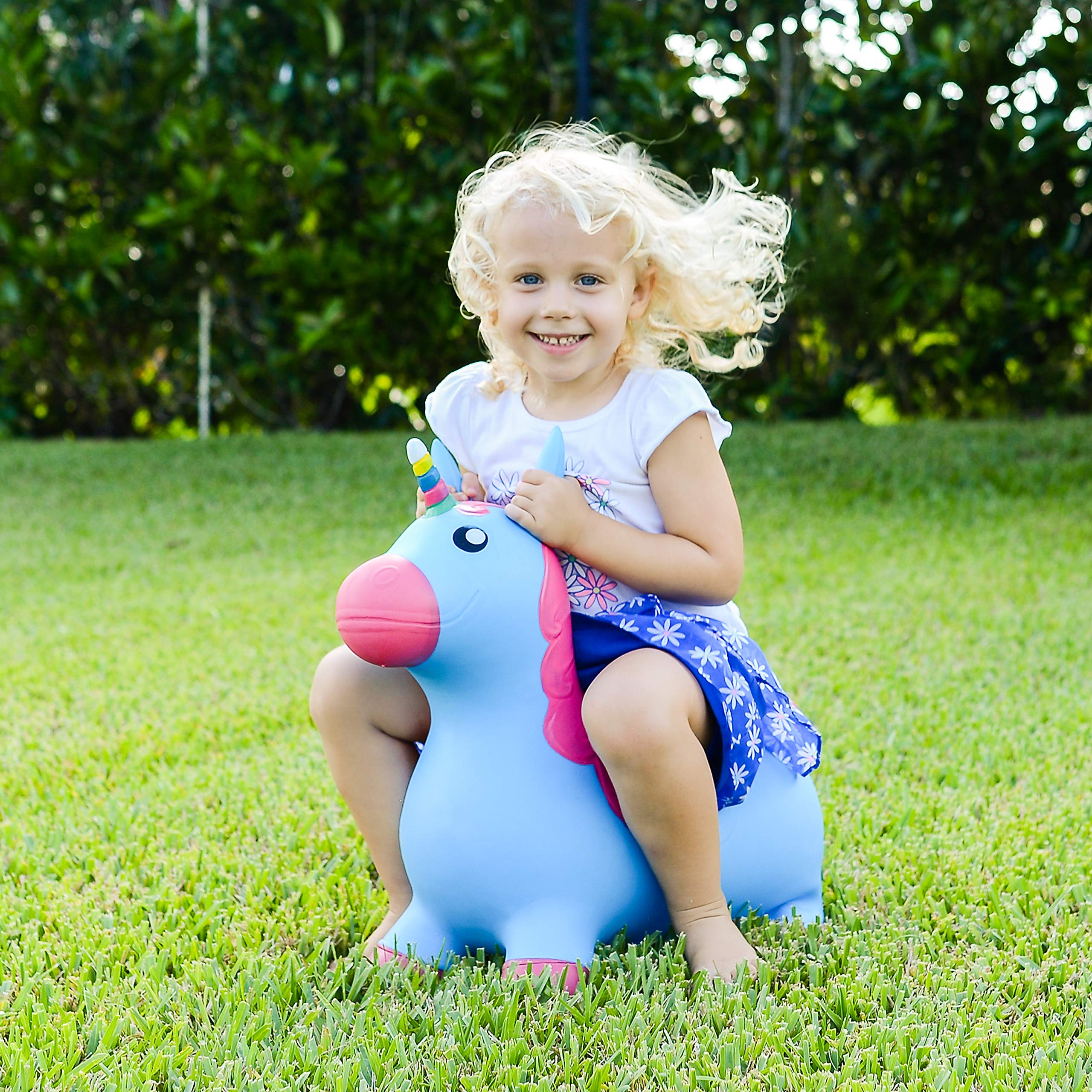 Kiddie Play Hopper Ball Unicorn Inflatable Hoppity Hop Bouncy Horse Toy (Pump Included) by Kiddie Play (Image #4)