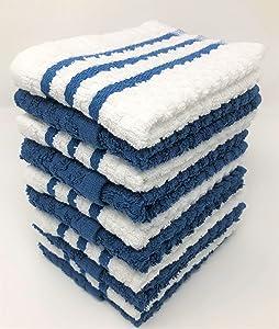 AMA's Kitchen Towels 10 Pack Dish Towels Tea Towels Terry Cotton Dish Cloths Towels (12 x 12 Inch) Machine Washable