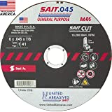 United Abrasives-SAIT 20079 Type 27 6-Inch x 1//4-Inch x 7//8-Inch Grade A24R Long Life Depressed Center Grinding Wheels 25-Pack