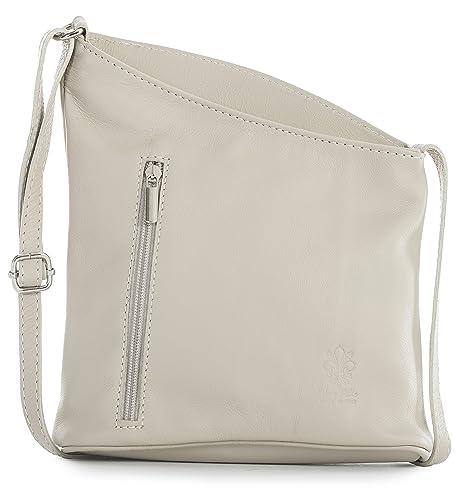 Big sac à main mini shop sac à main pour femme en cuir véritable cross body pouch sac bandoulière - Beige - Light Beige, One EU