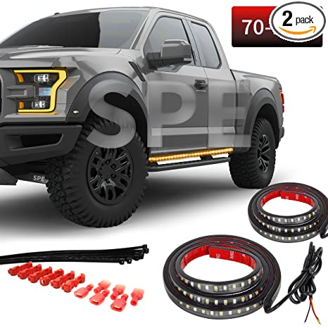 Amazon 2pc 70 inch truck light running board led kit for 2pc 70 inch truck light running board led kit for extended cab aloadofball Choice Image