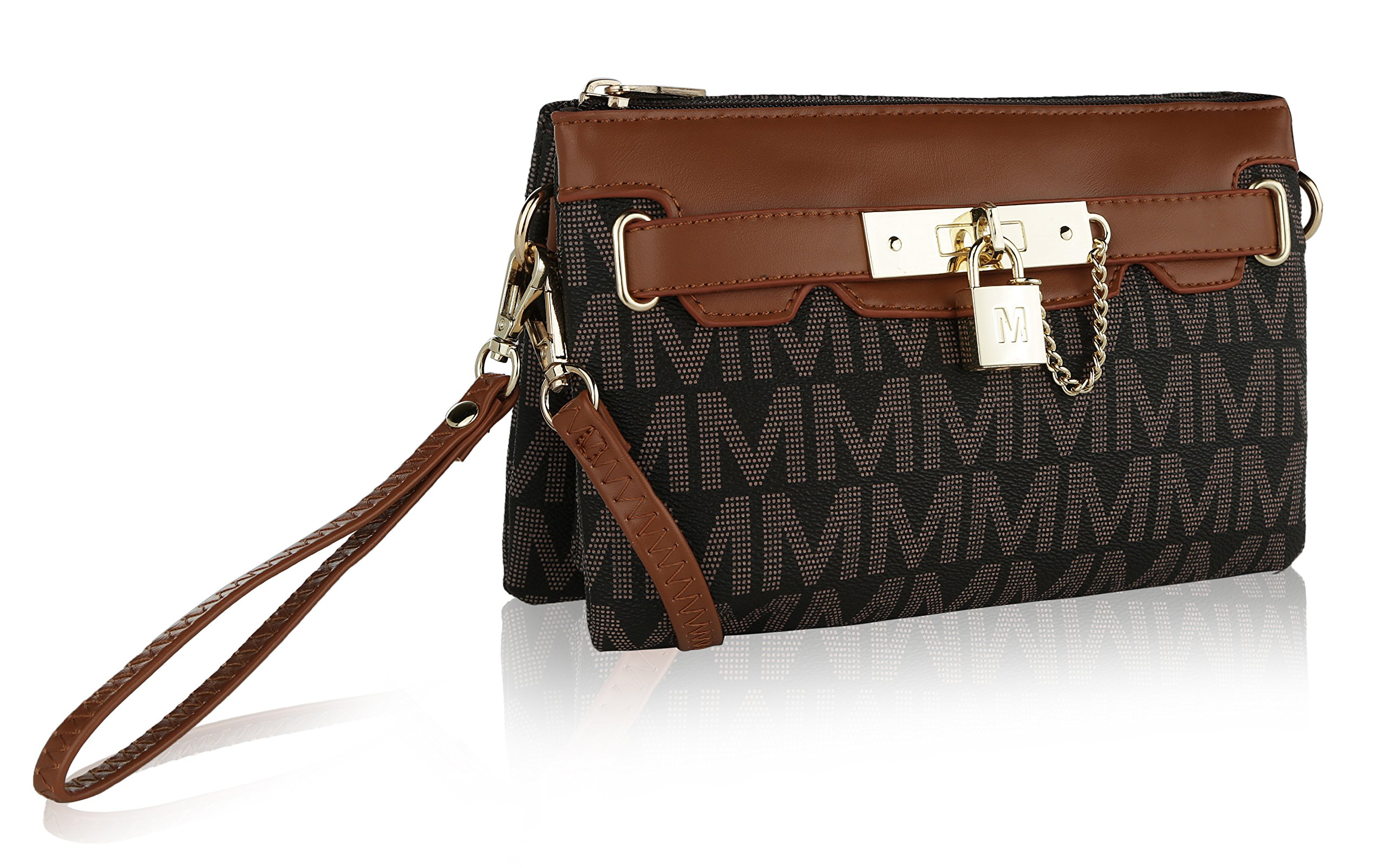 "MKF Collection by Mia K. Farrow Carissa ""M"" Signature Cross Body Wristlet by MKF Collection by Mia K. Farrow"