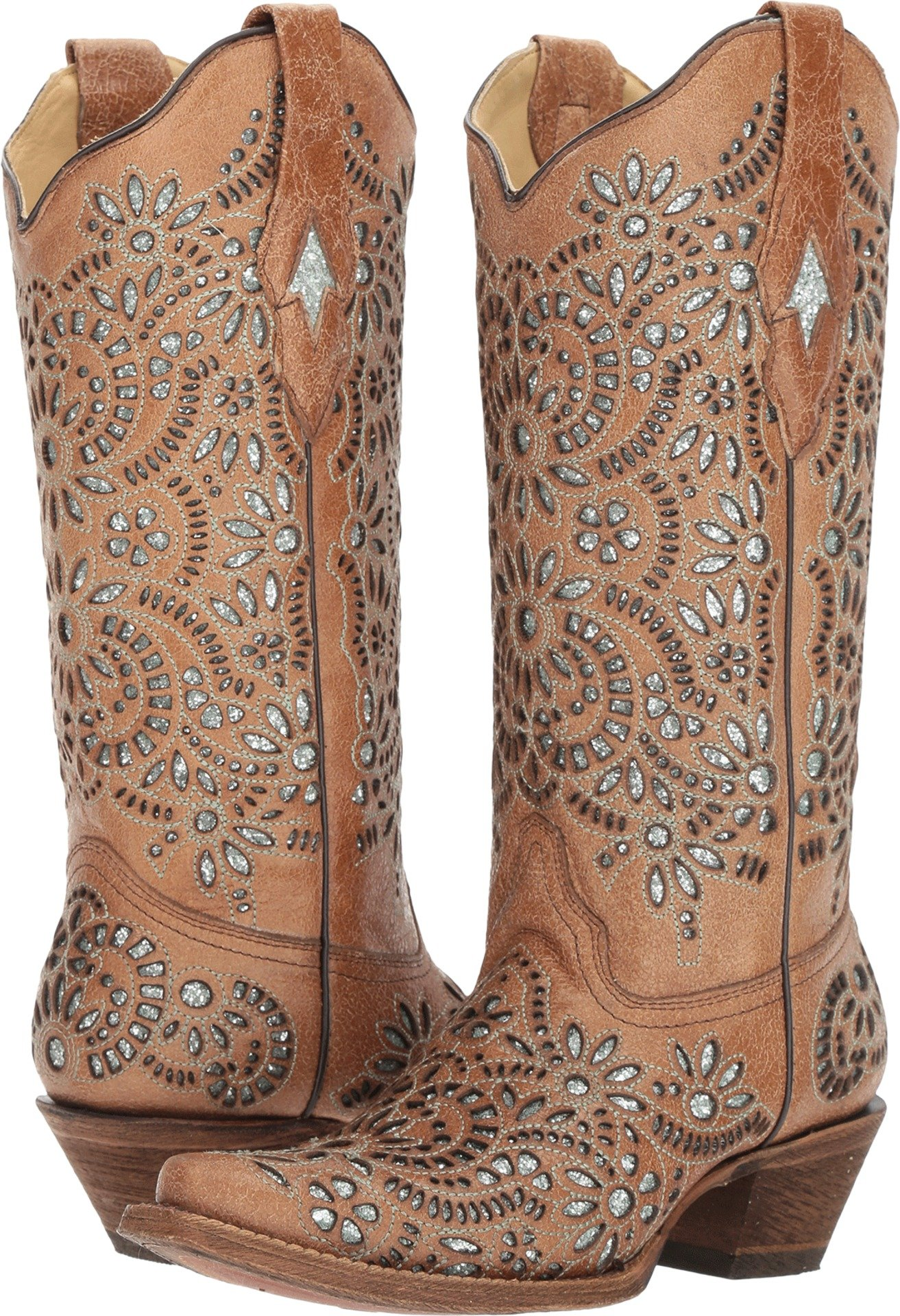 Corral Boots Women's A3352 Brown 9.5 B US by Corral Boots