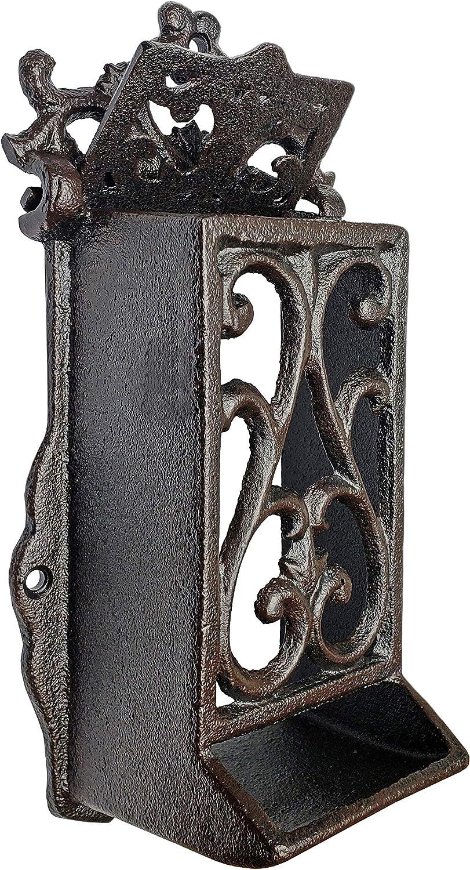 NACH Rustic Cast Iron Vintage Match Box Holder