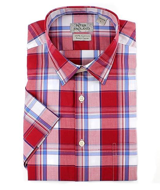 Big Size Mens Kingsize Shirt Short Sleeve Casual Top Gingham Check Button 39