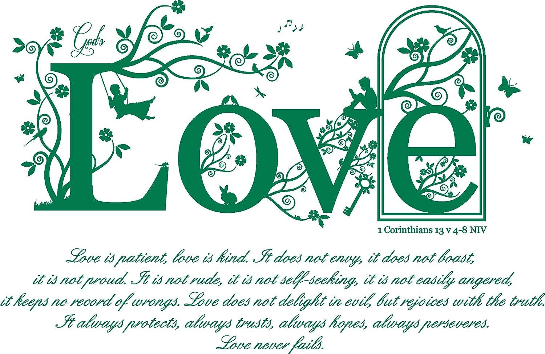 amazon com 1 corinthians 13 v 4 8 niv christian bible verse quote