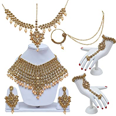 3e9c2c440 Lucky Jewellery Lct Color Gold Plated Designer Bridal Set for Women  (2475-L1ZS-