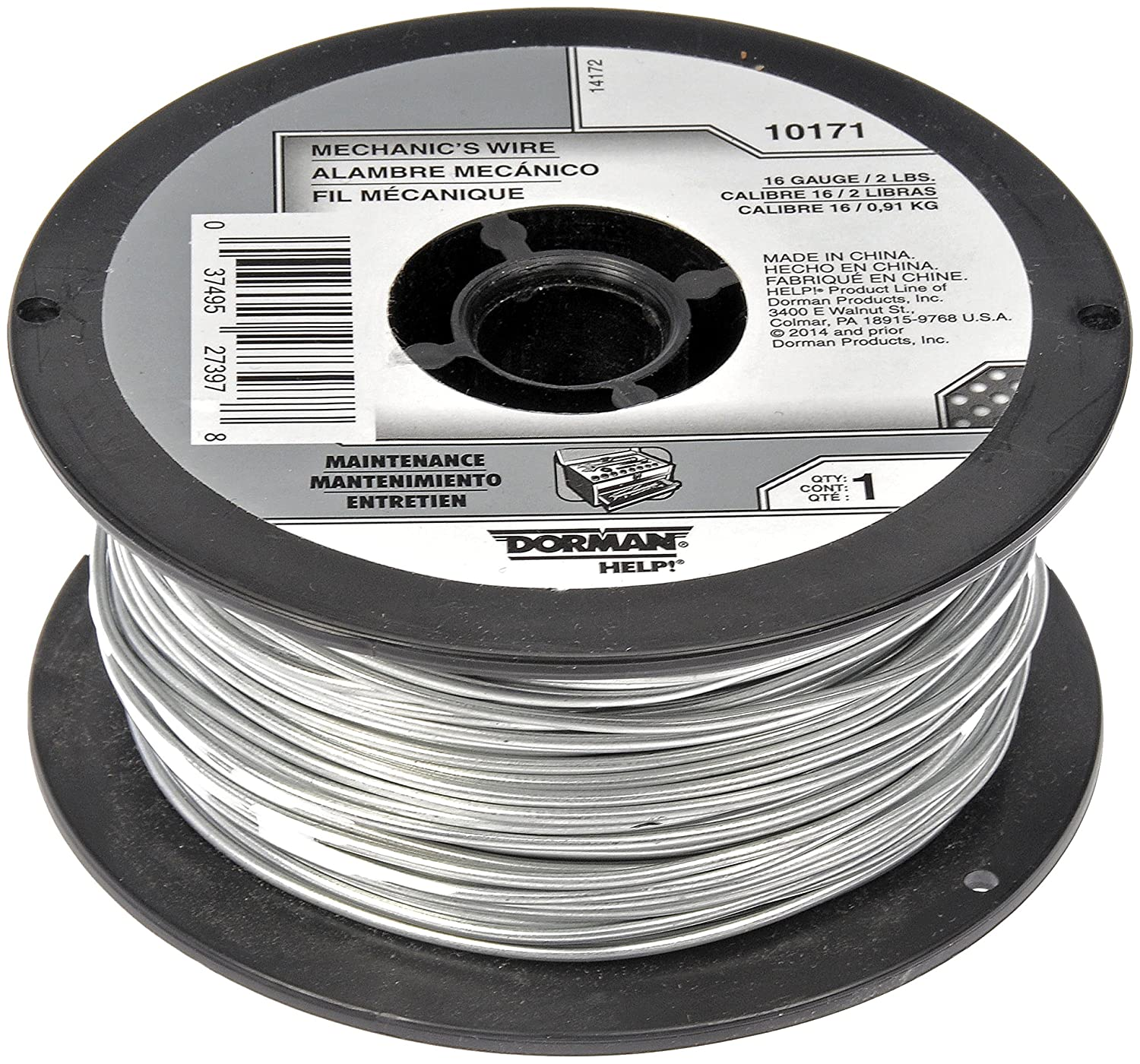 Dorman Help! 10172 Mechanics Wire Spool (18 Gauge 2 Pound 332 ft.)