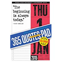 365 Quotes Page-a-Day Notepad and 2015 Calendar