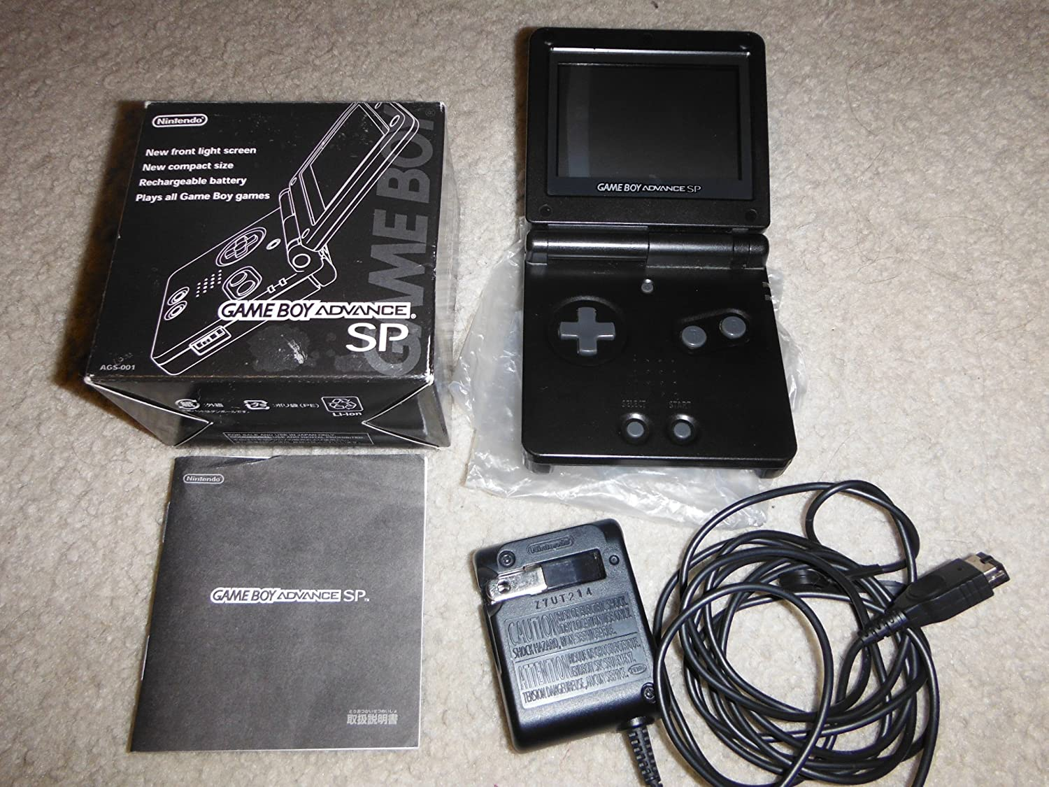 Nintendo Gameboy Advance Sp Onyx Black AGS-001